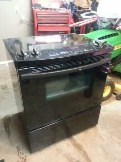 Oven Stove Flat Top Convection black