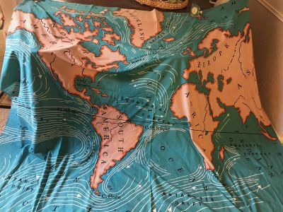Large Cotton blend map from Urban Outfitters
