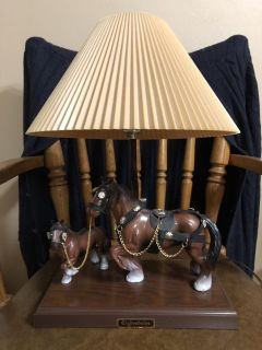 Clydesdale Horse Lamp