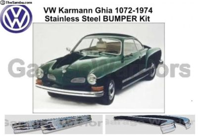 1972-1974 Ghia Stainless Steel Bumpers