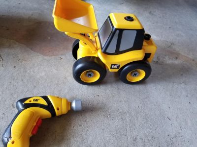CAT tractor and screwdriver.