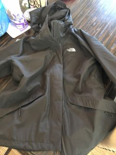 North face outer shell rain jacket