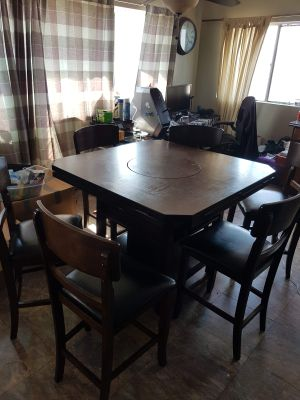 6 Chair High table with lazy susan