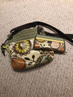 Fossil Key-Per purse with matching wallet