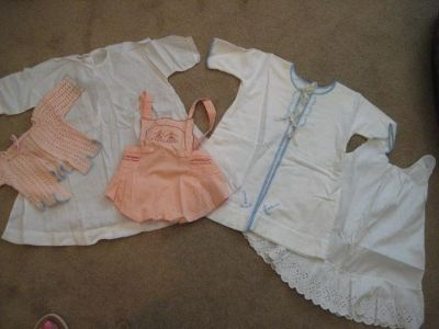 Group of Vintage Baby Clothes