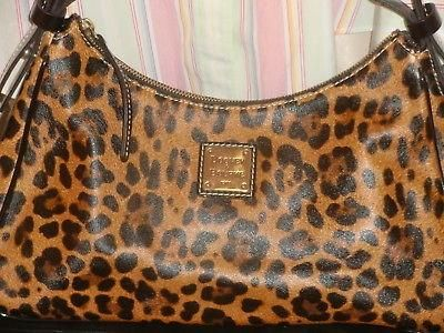 Dooney and Bourke patent leather leopard print purse