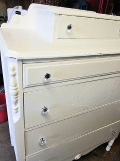Vintage Cottage Shabby Chic Dresser with Glove Drawer