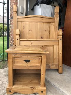 Twin bed and nightstand from Pier 1