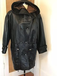 Small Men s Cayenne Leather Jacket With Hood