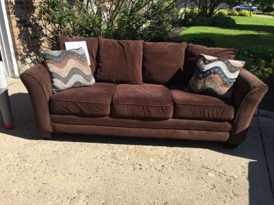 Couch, love seat, chaser, desk, stools Garage sale!!!