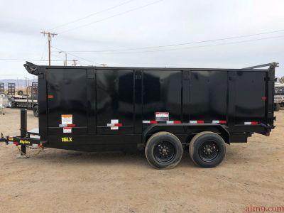 7x14 Super Duty Tandem Axle Dump Trailer GVWR 17,500 lbs, Big Tex Dump Trailer 16LX-14-3-HJ
