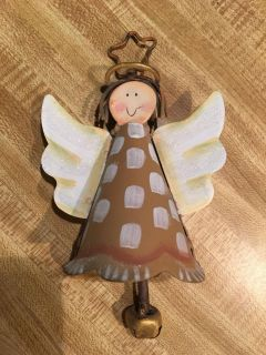 Round Top brand metal Angel bell ornament