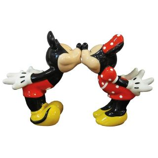 Kissing Mickey and Minnie Salt & Pepper Shakers