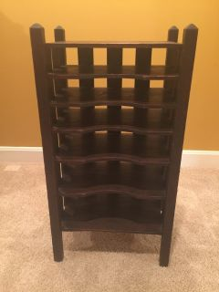 Antique Dark Wood Record Holder