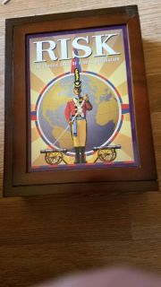 collectors wood book box game of RISK
