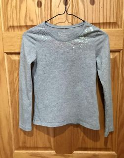Faded Glory Grey with Multi Color Sequins at top, Size 10/12