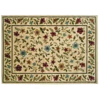 NWT StyleHaven Camden Floral Leaf Rug 3' x 5' Flower Floral Ivory Green Beige Area Throw Rug