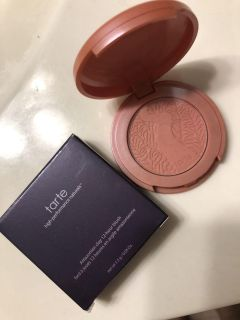 Brand new in box. Never used. Still has clear cover over blush. Tarte brand amazonian clay blush. Color is quirky . Retail $30