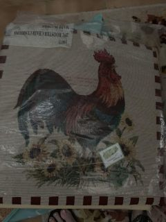 2 rooster cushions new