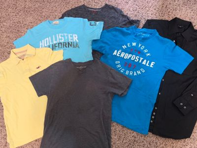 Boys/Teen Name Brand shirts (lot of 6)