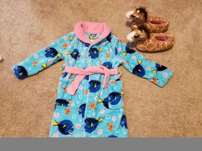 Girl's Robe and Slippers
