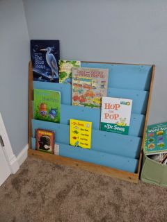 Book shelf with dry erase side
