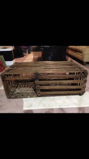 Authentic lobster trap coffee table