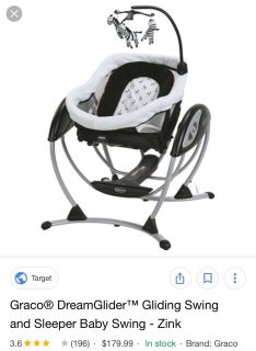 Graco Dreamglider and infant sleeper EUC