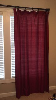 Pair of Pottery Barn red silk panels/drapes