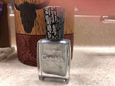 Brand New Sally Hansen Crackle Overcoat Nail Polish. - The Color is Fractured Foil