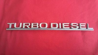 Sell 72-85 MERCEDES BENZ TURBO DIESEL TRUNK EMBLEM 300SD 240SD OEM w126 W116 W123 motorcycle in Sacramento, California, United States, for US $17.99