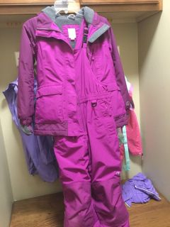 Girls Lands End Coat/Snowpants set(Sz 7/8)
