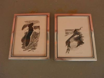 2 numbered & signed lithographs by listed artist David T. GROSE