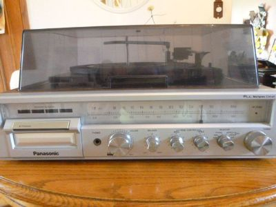 Vintage Panasonic Turntable and 8 Track with Tuner