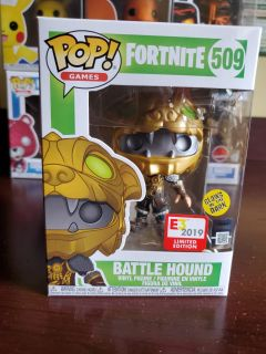 Fortnite Battle Hound Glow In the Dark E3 Exclusive Funko Pop