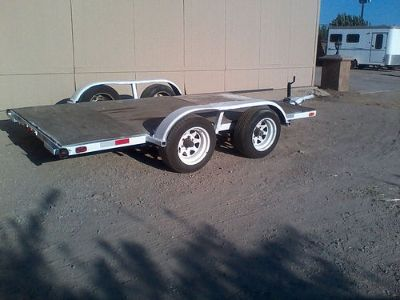 UTILITY TRAILER, 6' WIDE X 8' LONG, ...