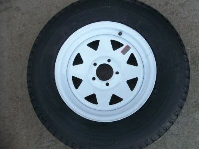 "Purchase TWO ST205/75R15 Radial Boat,Camper, Trailer Tires Load Range C 5 on 4.5"" wheels motorcycle in Dyersburg, Tennessee, United States"