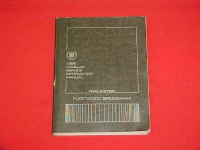 Find 1986 CADILLAC FLEETWOOD BROUGHAM SERVICE SHOP MANUAL W/ WIRING DIAGRAMS 86 OEM motorcycle in Leo, Indiana, US, for US $12.99