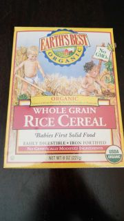 Baby rice cereal