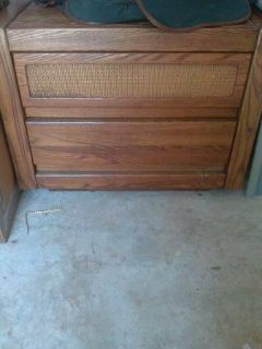 2 ANTIQUE BROWN NIGHT STANDS