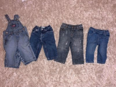 Boys jeans and overalls