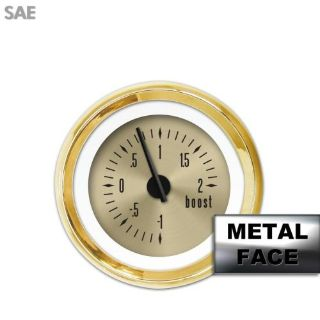 Sell Turbo Gauge - SAE American Classic Gold VIII, Black Modern Needles, Gold Trim motorcycle in Portland, Oregon, United States, for US $44.96