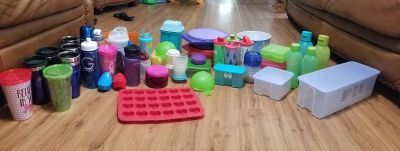 Kitchenwares (a lot of Tupperware, brand new)