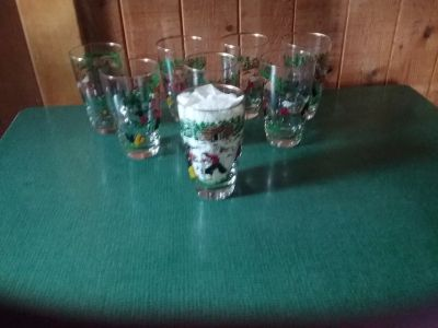 Mid Century Treasure Island Glass Tumblers