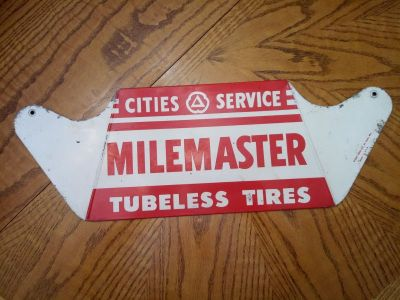 Cities Service Tire Sign.