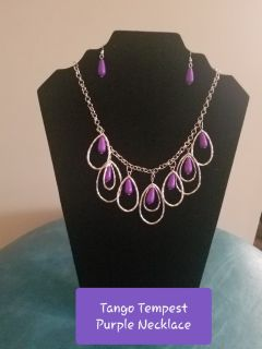 Tango Tempest Purple Necklace