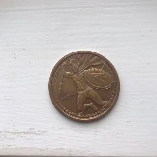 Spartan Warrior Collectible Coin