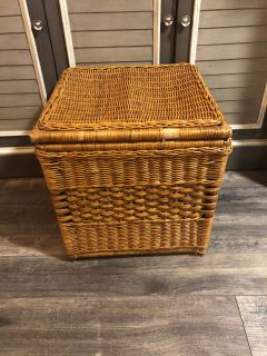 Wicker Storage & Seat