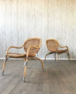 Pair of vintage Mats Theselius chairs for IKEA