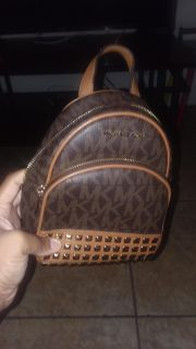 MK backpack with straps